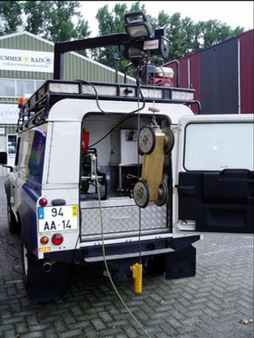 completely set up inspection vehicle
